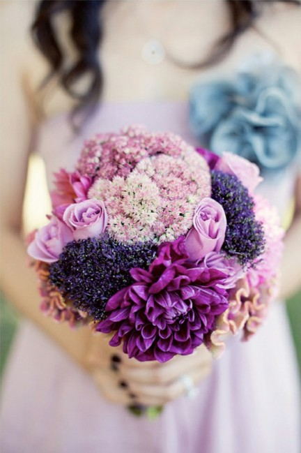 Radiant orchid bridesmaid flowers